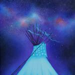 """Under the Stars"" 16"" x 20"" Acrylic on Canvas $1300.00"