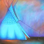 "Incandescent Skies"" 30"" x 40"" $3600.00"