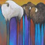 "Follow the Leader 10"" x 24"" Acrylic on Canvas $1500.00"