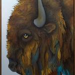 """The Patriarch"" 40"" x 84"" Framed in Alder $14,000.00"
