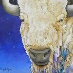 """White Buffalo"" ""30 x ""40 Acrylic on Canvas $3600.00"