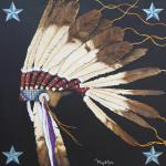 """Worn With Honor"" 42"" x 42""  Acrylic on Canvas $6100.00"