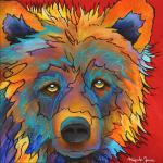 """Untitled Bear""  14"" x 14"" Acrylic on Canvas $850.00"