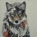 """Twilight Wolf"" 36"" x 48"" Acrylic on Canvas $6900.00"
